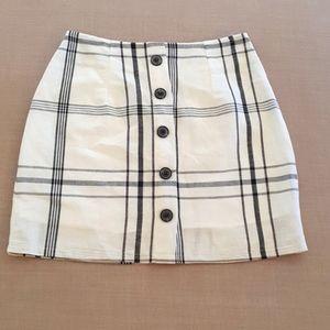 Ally black & white skirt 70% cotton 30% linen